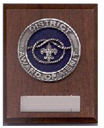 District Award of Merit Plaque