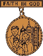 Faith in God medal