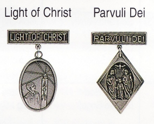Light of Christ and Parvuli Dei medals