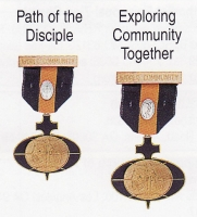 Path of the Disciple and Exploring Community Together medals